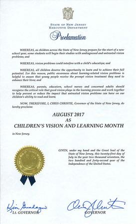 2017 Childrens vision proclamation