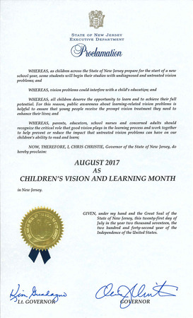 2017 Childrens vision proclamation